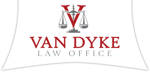 Jim Van Dyke Law Office Carroll, Iowa Logo